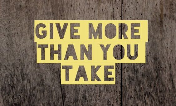 Leadership è dare più di quanto prendi